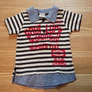 エーアーベー(eaB)の80cm eaB 襟付き Tシャツ ボーダー(Tシャツ)