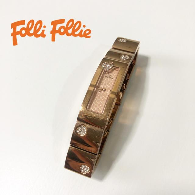 Folli Follie - 【Folli Folie】ピンクゴールド 腕時計 WF8B061 の通販 by M&A's shop|フォリフォリならラクマ