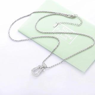 フレッド(FRED)のネックレス シルバー925 czダイヤモンド メンズ レディース ユニセックス(ネックレス)