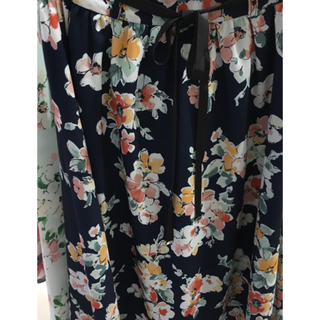 プロポーションボディドレッシング(PROPORTION BODY DRESSING)の新品♡定価10360円 大人気の花柄プリントスカート  ネイビー(その他)