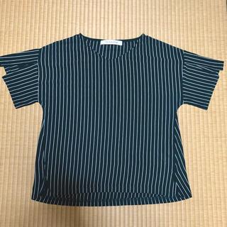 ジエンポリアム(THE EMPORIUM)のthe emporium ジエンポリウム★スリット入りストライプTシャツ(Tシャツ(半袖/袖なし))