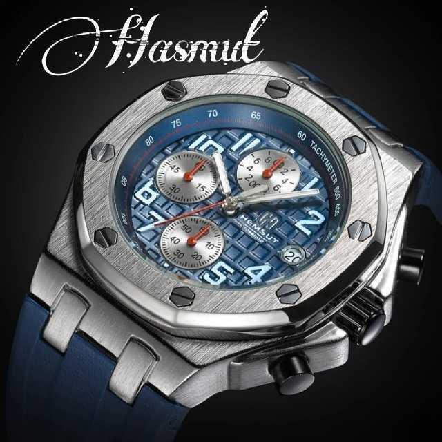 ユンハンスコピー紳士 - 【海外限定】Hery.HesmutNavy8810 腕時計 ウォッチの通販 by レビサウンド's shop|ラクマ