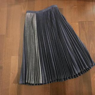 ルシェルブルー(LE CIEL BLEU)のルシェルブルー デニムプリーツスカート(ひざ丈スカート)