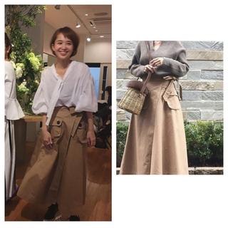 ドゥロワー(Drawer)のyori japan チノラップスカート☆ヨリ 外村久美子 very 36(ひざ丈スカート)