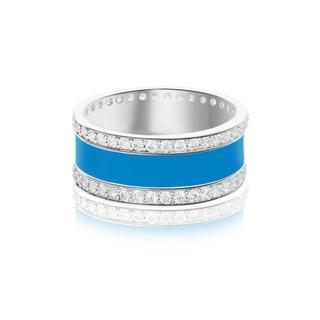 ユニティ バンド リング 指輪 キラキラ おしゃれ 青 シルバー silver(リング(指輪))