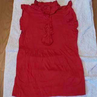 ザラ(ZARA)の赤トップス(カットソー(半袖/袖なし))