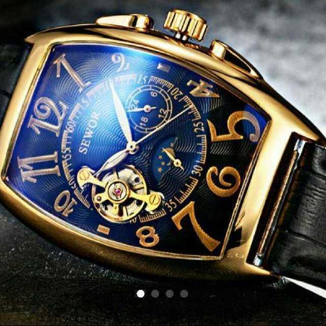 スーパーコピーユンハンス時計最安値2017 - SEWAR7210black 腕時計 メンズ ウォッチ ブラック&ゴールド  の通販 by さとこショップ|ラクマ