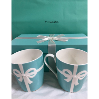 Tiffany & Co. - ティファニーブルーボックス マグカップショッパー付き(美品贈り物用)