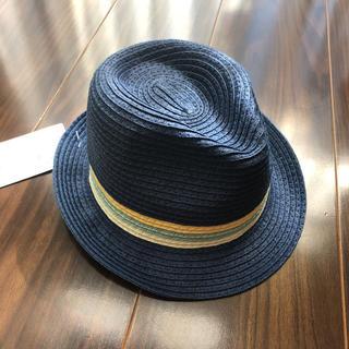 ZARA - ZARAベビー☆中折れハット51cm  男の子☆麦わら帽子ブルー☆タグ付き新品