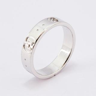 グッチ(Gucci)のグッチ 指輪 アイコン ハート リング K18WG 5号 新品仕上げ済(リング(指輪))