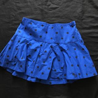 ギリーヒックス(Gilly Hicks)の新品 ギリーヒックス ミニスカート 青×黒 裏地なし 透けない 可愛い 残り1(ミニスカート)
