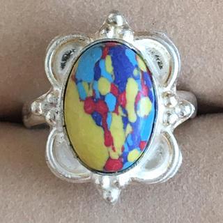 (61)マーブル模様のリング シルバー ヴィンテージ(リング(指輪))