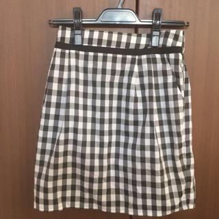マーキュリーデュオ(MERCURYDUO)のギンガムチェック×タイトスカート(ミニスカート)