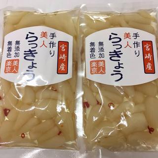 宮崎産手作りらっきょう2袋セット(野菜)