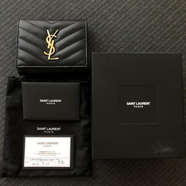 バッグ プラダ メンズ スーパー コピー 、 Saint Laurent - 【美品】Yves Saint Laurent 三つ折り財布 ブラックの通販 by プロフィールをご覧下さい( ¨̮ )|サンローランならラクマ
