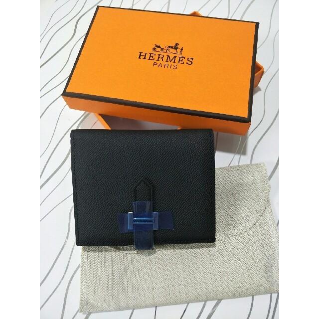 Hermes - 男女兼用 Hermes エルメス  折り財布 小銭入れ ブラックの通販 by 内海Q9 's shop|エルメスならラクマ
