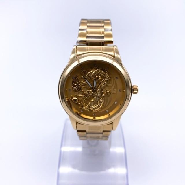 ジン偽物時計全品無料配送 - 金龍 腕時計 最新モデル腕時計 メンズ ゴールドウォッチの通販 by にこちゃん's shop|ラクマ
