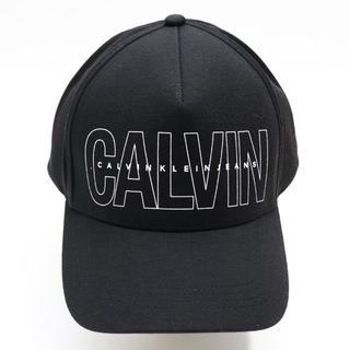 カルバンクライン(Calvin Klein)の新品 カルバンクライン ジーンズ キャップ ハット 帽子 ロゴ つば広 ブラック(キャップ)