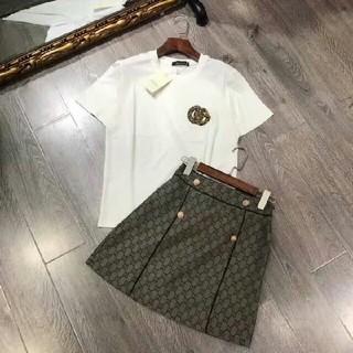 ディオール(Dior)のGucciグッチ Tシャツ スカート 2点セット売れ レディース(ひざ丈ワンピース)