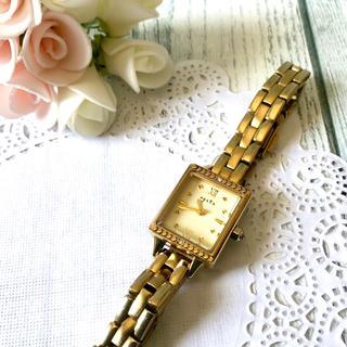 アガット(agete)の【動作OK】agete アガット 腕時計 ANA ゴールド スクエア(腕時計)