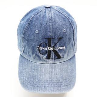 カルバンクライン(Calvin Klein)の新品 カルバンクライン ジーンズ キャップ ハット 帽子 ロゴ つば広 デニム(キャップ)