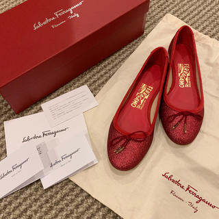 Salvatore Ferragamo - 新品未使用 フェラガモ バレエシューズ ぺたんこ靴 フラットシューズ リボン 4