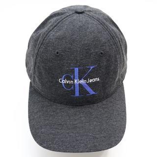 カルバンクライン(Calvin Klein)の新品 カルバンクライン ジーンズ キャップ ハット 帽子 ロゴ つば広 グレー(キャップ)