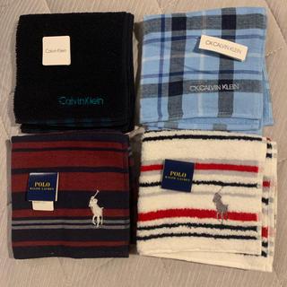 カルバンクライン(Calvin Klein)のメンズハンドタオルセット(ハンカチ/ポケットチーフ)