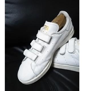アディダス(adidas)の 王道金ベロ!アディダススタンスミス高級ベルクロスニーカー人気白金!   (スニーカー)