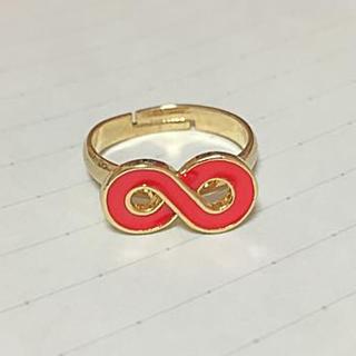 ∞マーク 赤 指輪(リング(指輪))