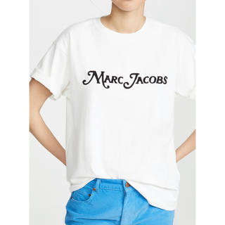 マークジェイコブス(MARC JACOBS)のMARC JACOBS 刺繍 ロゴ Tシャツ 白 カットソー(Tシャツ(半袖/袖なし))
