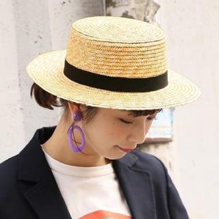 フーズフーチコ(who's who Chico)のLOWRYSFARM カンカン帽(麦わら帽子/ストローハット)