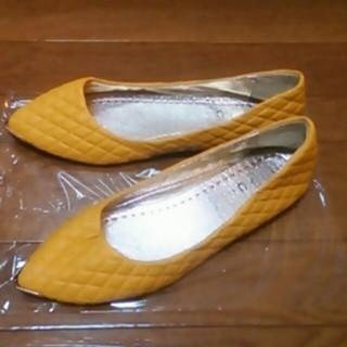 新品☆ペタンコ靴☆24.5(ハイヒール/パンプス)