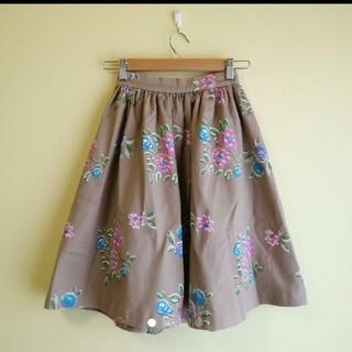 ニーナミュウ(Nina mew)のNina mew 花柄 フレアスカート(ひざ丈スカート)