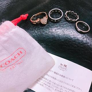コーチ(COACH)の【 coach 】 COACH  コーチ リング 13号 三連(リング(指輪))
