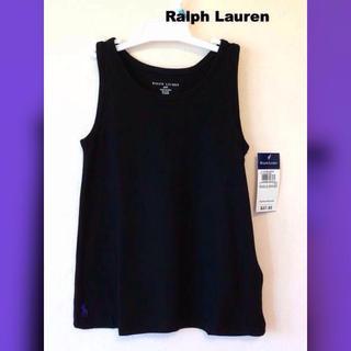 ラルフローレン(Ralph Lauren)の新品 ラルフローレン*黒タンク♪紫ポニー(110)(その他)