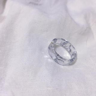 アクリルリング 銀箔風ホロ入り(リング(指輪))