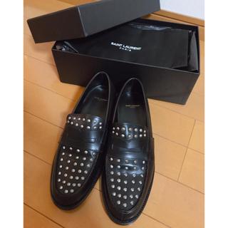 サンローラン(Saint Laurent)のサンローラン スタッズ ローファー 新品 24cm(ローファー/革靴)