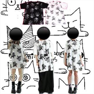 ファンキーフルーツ(FUNKY FRUIT)の【Drug】モザイクテディベア半袖ビックTシャツ(Tシャツ(半袖/袖なし))