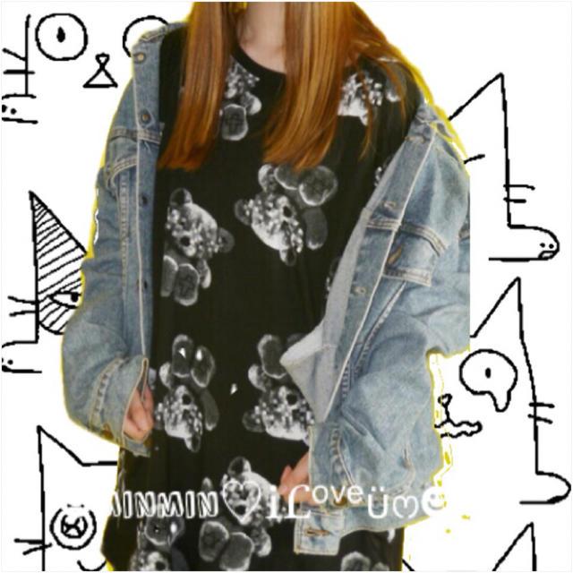 FUNKY FRUIT(ファンキーフルーツ)の【Drug】モザイクテディベア半袖ビックサイズTワンピ レディースのトップス(Tシャツ(半袖/袖なし))の商品写真