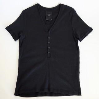 ジースター(G-STAR RAW)のG-STAR RAW ジースターロウ ヘンリーネック 半袖Tシャツ ブラック M(Tシャツ/カットソー(半袖/袖なし))
