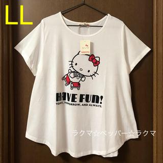 ハローキティ(ハローキティ)のキティ ローラースケート tシャツ LL(Tシャツ(半袖/袖なし))