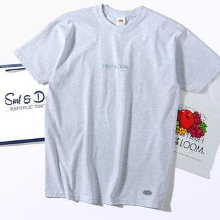 ロンハーマン(Ron Herman)のFruit Of The Loom グラデーション ロゴTシャツ グレーL(Tシャツ/カットソー(半袖/袖なし))