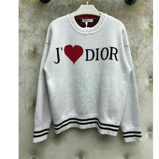 ディオール(Dior)のJ'❤DIOR ET'AIM DIOR 長袖 ニットセーター  38/M(ニット/セーター)