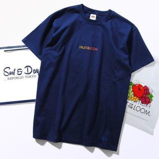 ロンハーマン(Ron Herman)のFruit Of The Loom グラデーション ロゴTシャツ ネイビーM(Tシャツ/カットソー(半袖/袖なし))