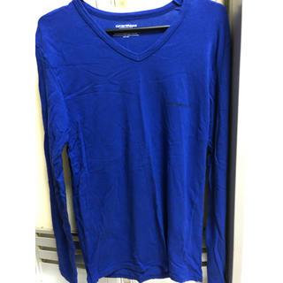 エンポリオアルマーニ(Emporio Armani)のエンポリオ アルマーニ ロンT ブルー(Tシャツ/カットソー(七分/長袖))