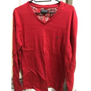 エンポリオアルマーニ(Emporio Armani)のエンポリオ アルマーニ ロンT 赤 レッド(Tシャツ/カットソー(七分/長袖))