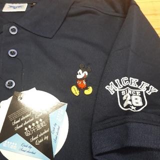 Disney - 新品タグ付き 紺 ミッキーマウス ポロシャツ Mサイズ