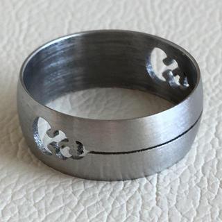 (64)不思議な模様のシンプルリング シルバー ヴィンテージ(リング(指輪))