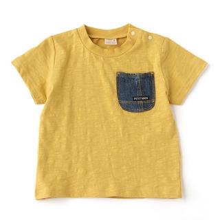 プティマイン(petit main)のプティマイン  からし イエロー 黄色 デニムポケット Tシャツ 100(Tシャツ/カットソー)